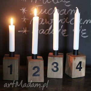 świąteczny prezent, świeczniki świecznik, adwentowy, drewniany