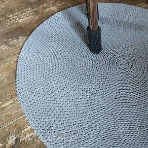 Dywan okrągły ze sznurka 140 cm, rękodzieło, handmade, ręcznie, szydełku, chodnik