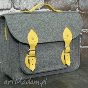etoi design filcowa torba na laptopa 17cali z przegrodą i skórzanymi elementami
