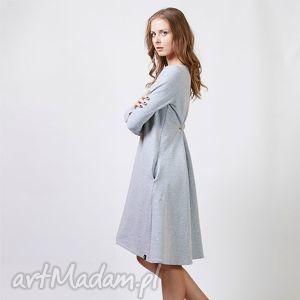 buckle sukienka dresowa, sukienka, dzianina, bawełna