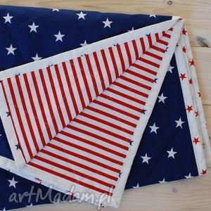 Narzuta w amerykańskim stylu 130x230cm, narzuta, gwiazdy, amerykańska, paski, flaga
