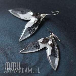 biały motyl, motyle, białe, abstrakt, duże, lato kolczyki biżuteria