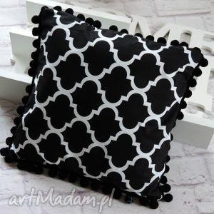 poduszki poduszka dekoracyjna z pomponami maroko 40 40, poduszka