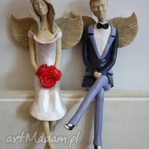 anioły siedzące para 2, anioł, anioły, dom