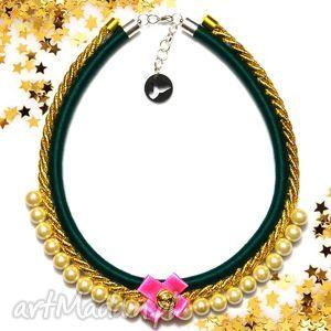 naszyjniki kolia naszyjnik tiffi green, kolia, naszyjnik, elegancki, perły, perełki