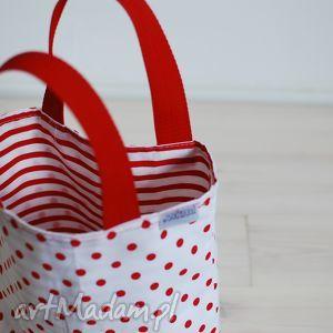 marina czerwono-biała, grochy, paski, kropki, marine, śniadanie, lunch, prezenty na