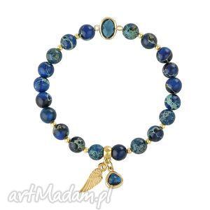 lavoga lapis blue - caesar , jaspis, kryształek, piórko, minerały biżuteria