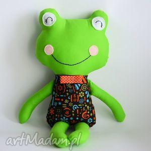 maskotki żabka - elegant krzyś 46 cm, żabka, chłopczyk, zabawka, maskotka, roczek