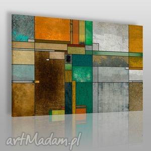 obrazy obraz na płótnie - abstrakcja kwadraty prostokąty 120x80 cm 20601