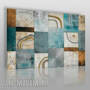 obraz na płótnie - abstrakcja mozaika 120x80 cm 13901 , nowoczesny