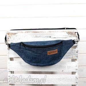 godeco nerka dzinsowa z karabończykami , torebka, saszetka, dżinsowa, jeans, denim