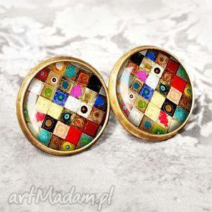 ARTISTIC MOSAIC :: wkrętki z mozaikowym oczkiem, sztyfty, wkręty, mozaika, kolorowe