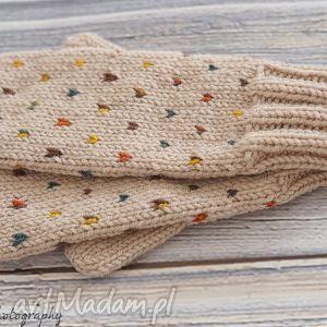 rękawiczki jednopalczaste rękawiczki, jednopalczaste, dziergane, wełna