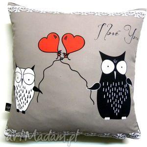 poduszka dla zakochanych, sowy, poduszka, walentynki, wyjątkowy prezent