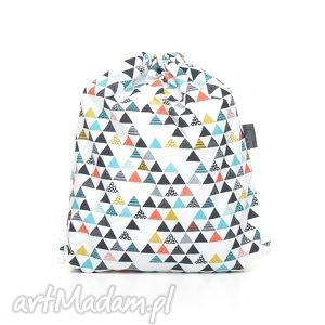 PLECAK WOREK PRZEDSZKOLAKA kolorowe trójkaty, worek, plecak