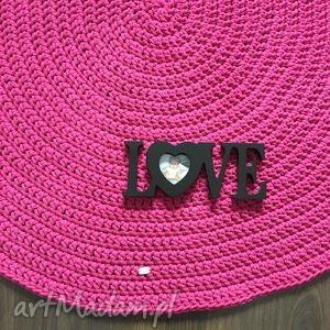 dywan ze sznurka bawełnianego fuksja okrągły 120 cm, dywan, chodnik, crochet