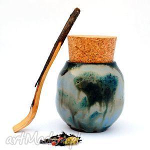 ceramika ceramiczny pojemnik - pojo ix nr154a, pojemnik, naczynie, użytkowe