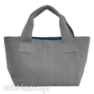 14-0001 szara damska torebka do ręki shopper bag pelican, modne, damskie, torebki
