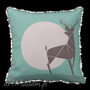 pościele poduszka dekoracyjna rogacz jeleń deer 6120, poduszka, jeleń, skandynawska