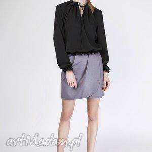 bluzka, blu129 czarny, modna, elegancka, stylowa, kobieca, casual bluzki