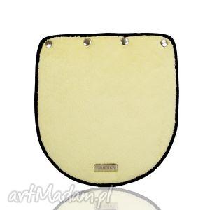 klapka puro 272 yellow, klapka, żółta, minky, plusz
