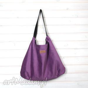 torba na ramię julia fioletowa, torba, pojemna, wytrzymała, prezent