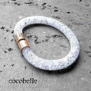 bransoletki final sale shimmer- lśniąca bransoletka stardust, biała, kryształkowa