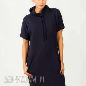 Sukienka Irmina 4, wygodna, modna, ciepła, golf, kieszenie, dresowa