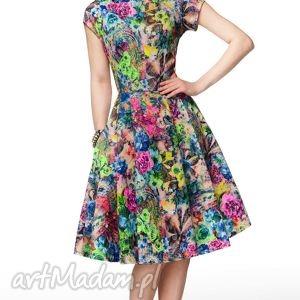 Sukienka APRIL Midi Aisza , sukienka, kiwatowa, elegancka, letnia, rozkloszowana