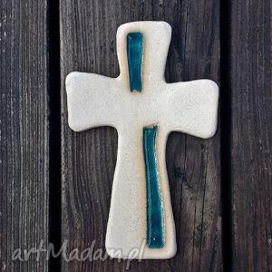 ceramika krzyżyk i szkło 5, glina, szkło, fusing, krzyż, krzyżyk, szklany