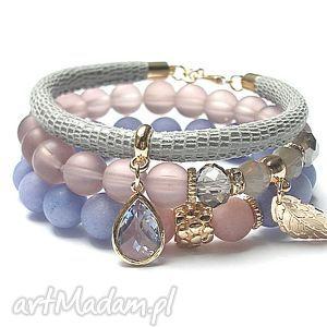 grey and colours vol 2 22 02 17 trio, jadeity, szkło, skóra, rzemień biżuteria