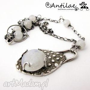 Lalin - Kamień księżycowy, srebro, art clay, artclay, kamień, księżycowy