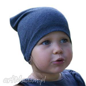 pod choinkę prezent, granatowa czapka, 2 rozmiary, dresówka, czapa, dziecko