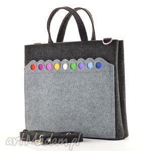 promocja- duża laptopówka z kropkami, promocja, laptop, torba, filc, kropki, filcowa