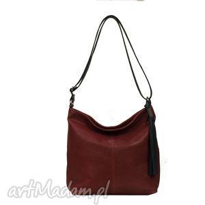 Prezent wygodna torebka ze skóry w kolorze fuksji, torebka, torba, prezent,