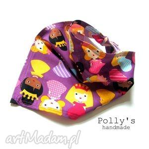 fioletowe księżniczki- chustka apaszka, chustka, bandana, księżniczki