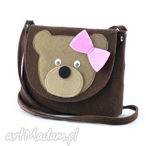 dla dziecka torebka dziewczęca- brązowy miś, torebka, torebeczka, dziecko