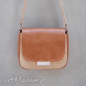 bambi - mała torebka beż i ecru, mała, trendy, klasyczna, ponadczasowa, prezent
