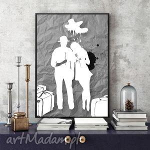 art print 30x40 cm , ilustracja, szarości, wydruk, 30x40, plakat, obraz grafika