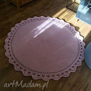 dywany okrągły dywan bawełniany z grubego sznurka homedeco 140 cm, dywanbawelniany