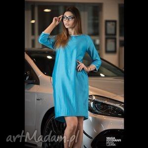 sukienka semplice - blu, sukienki, wiosna, lato ubrania, świąteczny prezent