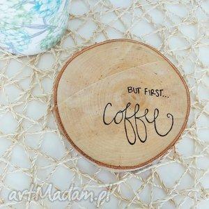 podkładka pod kubek brzoza, podkładka, eko, drewno, coffee, kawa, malowana dom