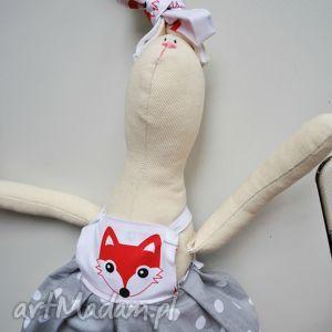 pani królik, maskotka, szmacianka, dziecka, prezent, handmade