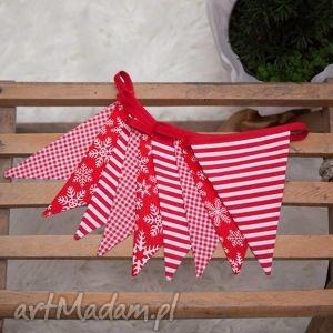 idą święta girlanda świąteczna w kolorze czerwonym, święta, świąteczne, mikołaj