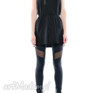 hand made legginsy legginsy - czarne z tiulem