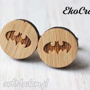 handmade męska drewniane spinki do mankietów batman