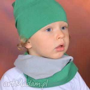ubranka bawełniany letni kominek pojedyńczy zielono-szary, bawełna, surowe, handmade