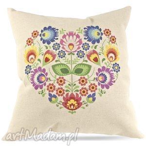 poduszka ,, prosto z serca folk, poduszkaludowa, dekoracjaludowa