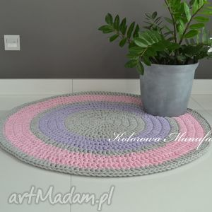 kolorowamanufaktura dywan bawełniany pastelek 100cm ze sznurka - kolorowa manufaktura