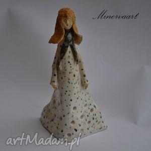 ceramika kobiecy świecznik, figurka, ceramika, lampion, postać, prezent na